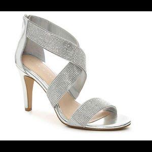 Kelly and Katie Metallic silver sandal